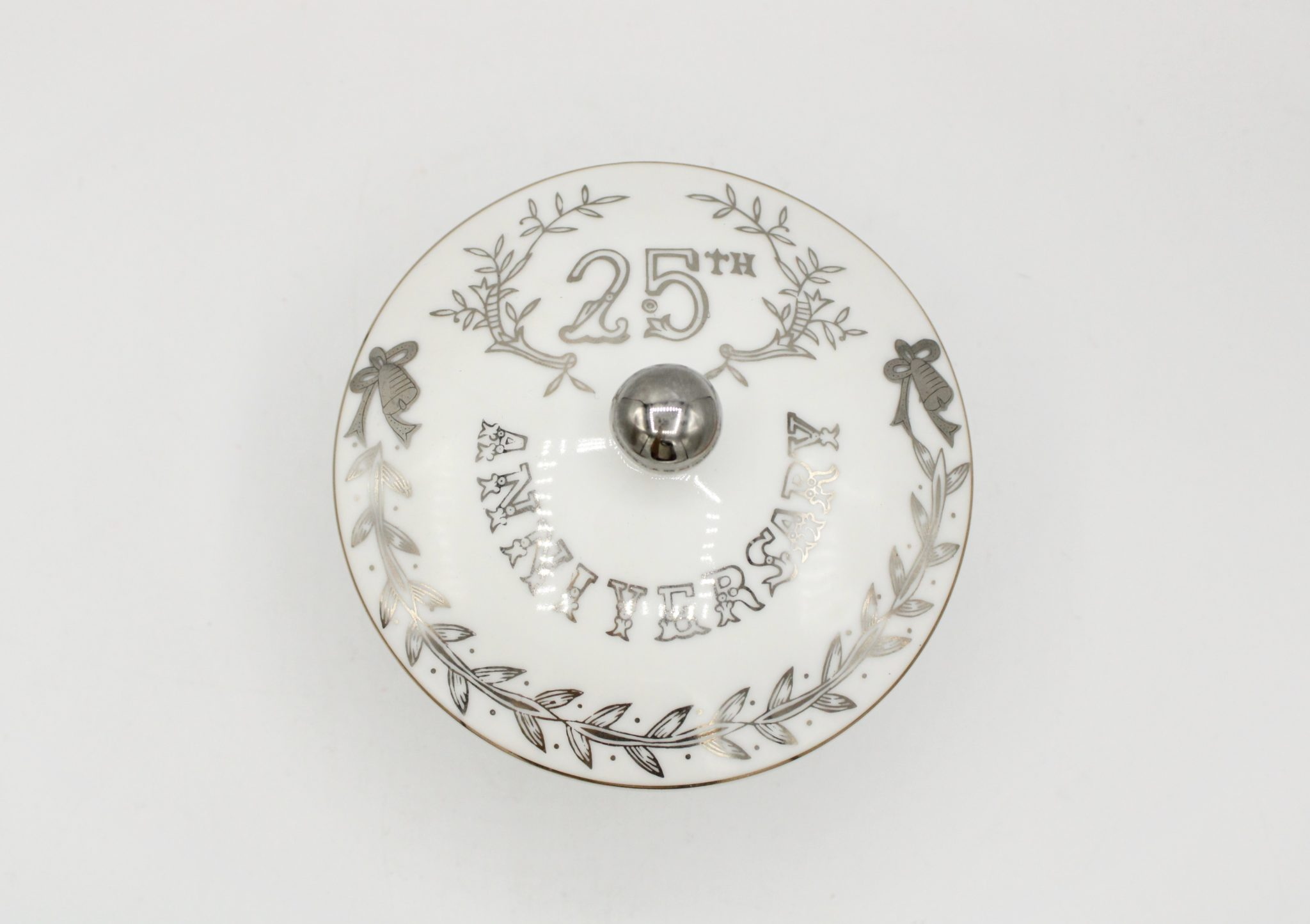 Vintage 25th Anniversary Dish by Lefton
